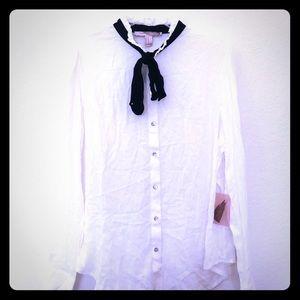 Forever 21 sheer white blouse NWT